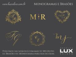 Monograma ou Brasão em Hot Stamping Ouro