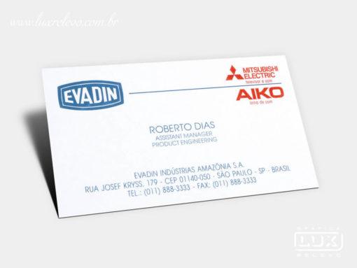 Cartão de Visita Evadin