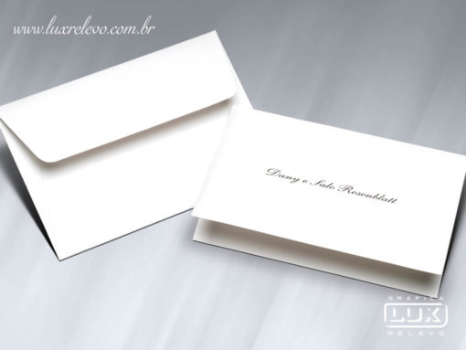 Acessório em Papelaria de Casamento Cartão Social Aspen