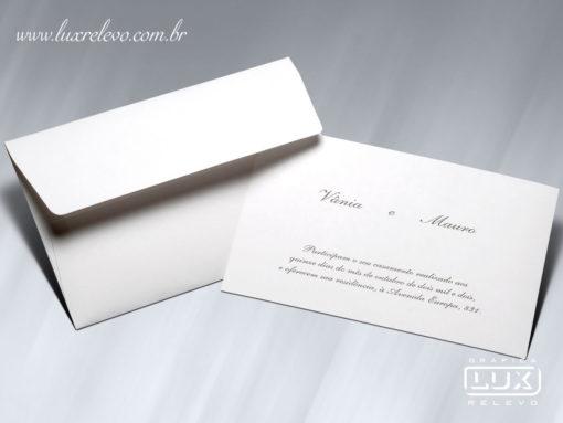 Acessório em Papelaria de Casamento Cartão Social Atenas