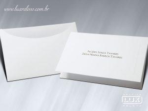 Acessório em Papelaria de Casamento Cartão Social Beirute
