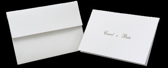 Acessório em Papelaria de Casamento Cartão Social Genova