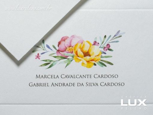 Cartão Social modelo Lisboa em papel Markatto Concetto Bianco com impressão em Off-Set Digital