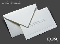 Cartão Social modelo Lisboa em papel Markatto Concetto Bianco com impressão em Relevo Americano