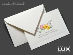 Cartão Social modelo Lisboa em papel Markatto Concetto Naturalle com impressão em Off-Set Digital