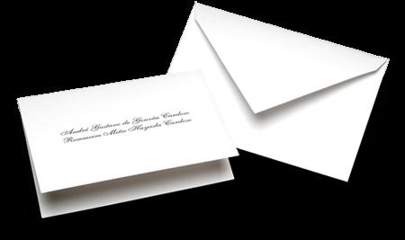 Acessório em Papelaria de Casamento Cartão Social Lisboa