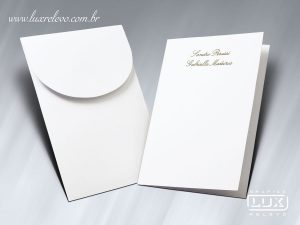 Acessório em Papelaria de Casamento Cartão Social Munique