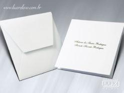 Acessório em Papelaria de Casamento Cartão Social Roterdã