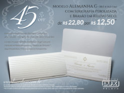 Convite de Casamento Clássico Alemanha G Promocional
