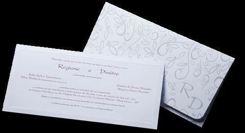 Convite de Casamento Romântico Floral Alemanha G