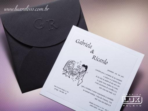 Convite de Casamento Moderno Romântico Atlanta M