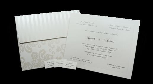 Convite de Casamento Clássico Floral Austrália G Promocional