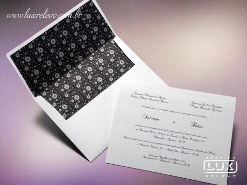 Convite Clássico Romântico Floral Austrália GG