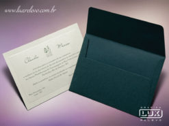 Convite de Casamento Clássico Romântico Austrália P