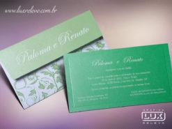 Convite Romântico Floral Austrália P Plus