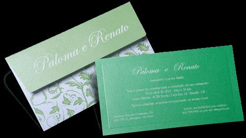 Convite de Casamento Romântico Floral Austrália P Plus