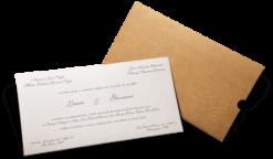 Convite de Casamento Rústico Berlin G