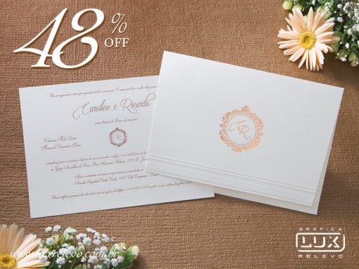 Convite de Casamento Clássico Bilbao M Promocional