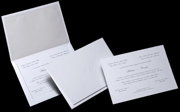 Convite de Casamento Clássico Bilbao M