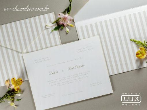 Convite de Casamento Clássico Luxo Bogotá XG 2017