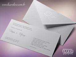 Convite de Casamento Clássico Romântico Brasil G
