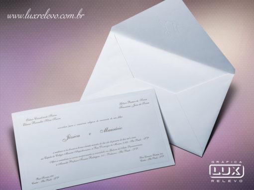 Convite de Casamento Clássico Budapeste XG