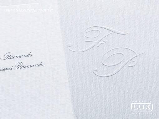 Convite de Casamento Clássico Cairo XG
