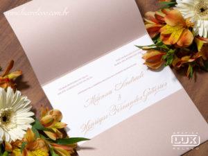 Convite de Casamento Luxo Clássico Romântico Camberra M 2019