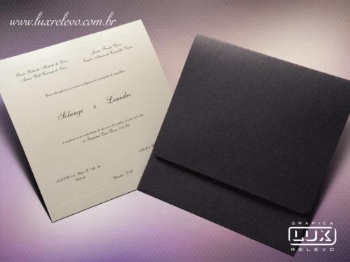 Convite de Casamento Clássico Luxo Canadá G