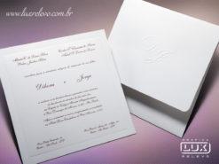 Convite de Casamento Clássico Canadá M