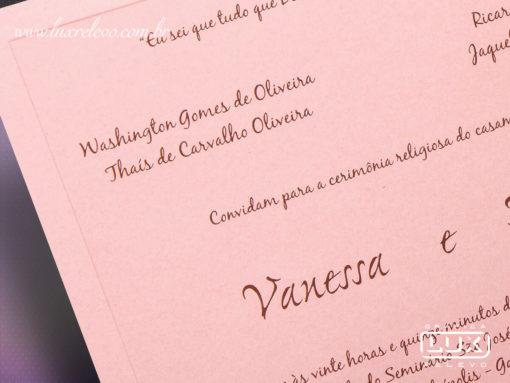 Convite de Casamento Romântico Floral Chicago G