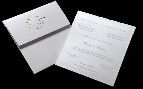 Convite de Casamento Clássico Luxo Chicago M