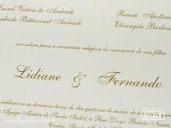 Convite de Casamento Clássico Romântico Floral Chile M Promocional