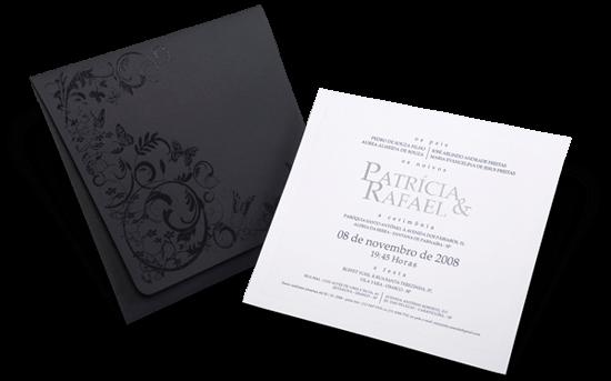 Convite de Casamento Romântico Moderno Floral Chile M