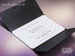 Convite de Casamento Moderno Luxo Copenhagen Horizontal G