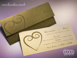 Convite de Casamento Romântico Dinamarca G