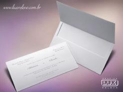 Convite de Casamento Clássico Dinamarca G Plus