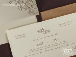 Convite de Casamento Rústico Romântico Floral Luxo Dinamarca GG 2017