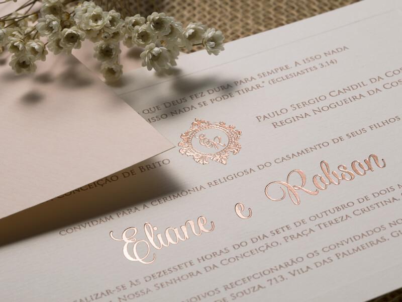 Convite de Casamento Clássico Rústico Romântico Dubai P 2018