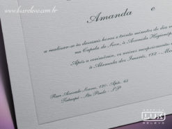 Convite de Casamento Clássico Luxo Dublin GG