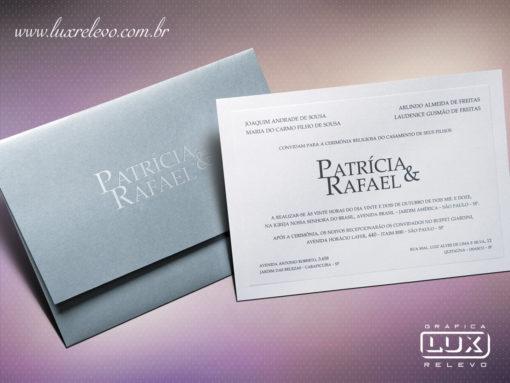 Convite de Casamento Moderno Luxo Dublin M