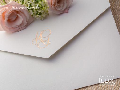 Convite de Casamento Clássico Luxo Dusseldorf XG 2019