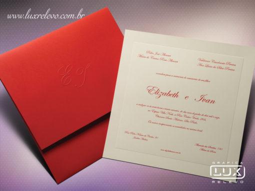 Convite Clássico Romântico Edimburgo G