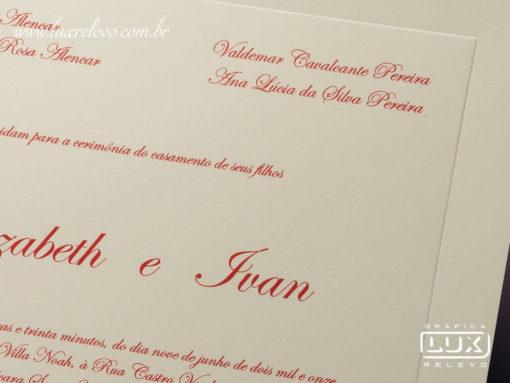 Convite de Casamento Clássico Romântico Edimburgo G