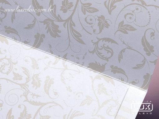 Convite de Casamento Clássico Luxo Floral Edimburgo Retangular GG