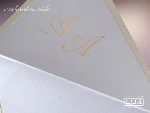 Convite de Casamento Clássico Romântico Luxo Espanha G