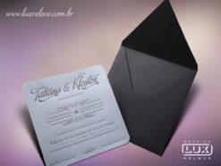 Convite de Casamento Moderno Romântico Luxo Espanha M