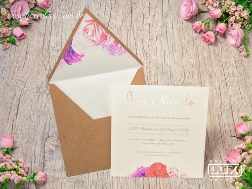 Convite Rústico Romântico Floral Aquarela Espanha M 2019