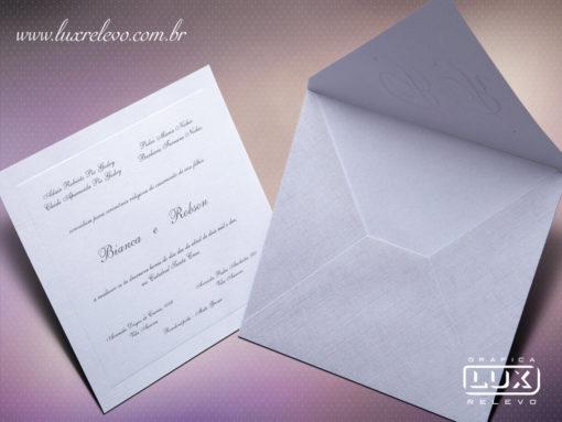 Convite de Casamento Clássico Luxo Espanha P
