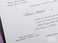 Convite de Casamento Clássico França G